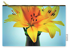 Carry-all Pouch featuring the photograph Beautiful Royal Lilies  by Ray Shrewsberry