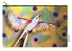 Carry-all Pouch featuring the digital art Beautiful Scissor-tailed Flycatchers by Iowan Stone-Flowers