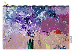 Beautiful Semi Abstract Floral Art Carry-all Pouch