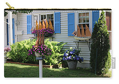 Carry-all Pouch featuring the photograph Beautiful Ship Flower Boxes 2 by Living Color Photography Lorraine Lynch