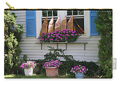 Carry-all Pouch featuring the photograph Beautiful Ship Flower Boxes by Living Color Photography Lorraine Lynch