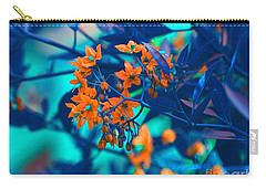 Carry-all Pouch featuring the photograph Beautiful Solanum Septemiobum Flowers  by Lance Sheridan-Peel