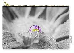Beautiful Splash Of Purple On A Daisy In The Garden Carry-all Pouch