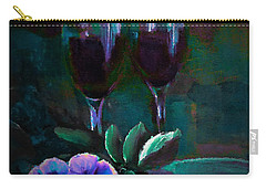 Beautiful Stemware Painting By Lisa Kaiser Carry-all Pouch