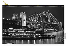 Beautiful Sydney Harbour In Black And White Carry-all Pouch