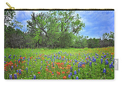 Beautiful Texas Spring Carry-all Pouch by Lynn Bauer