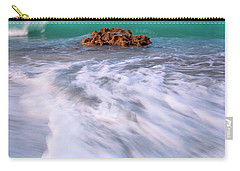 Beautiful Waves Under Full Moon At Coral Cove Beach In Jupiter, Florida Carry-all Pouch by Justin Kelefas