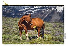 Beautiful Wild Mustang Horse Carry-all Pouch
