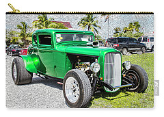 Carry-all Pouch featuring the photograph Beautifully Restored Green Hot Rod by Bob Slitzan