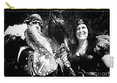 Carry-all Pouch featuring the photograph Beauty And The Beasts by Bob Christopher