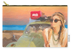 Carry-all Pouch featuring the digital art Beauty And The Beetle - Road Trip No.2 by Serge Averbukh