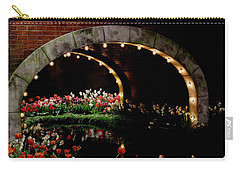 Beauty And The Bridge Carry-all Pouch by Living Color Photography Lorraine Lynch