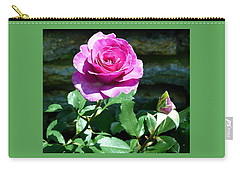 Carry-all Pouch featuring the photograph Beauty And The Bud by Will Borden