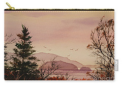 Carry-all Pouch featuring the painting Beauty At The Shore by James Williamson