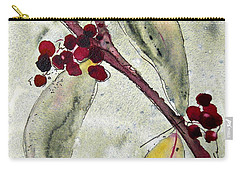 Beauty Berry Branch Carry-all Pouch by Dawn Derman