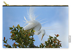 Carry-all Pouch featuring the photograph Beauty In The Treetop by Fraida Gutovich