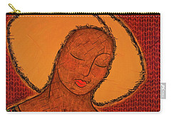 Carry-all Pouch featuring the mixed media Beauty Of Silence by Gloria Rothrock