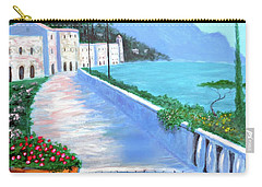 Carry-all Pouch featuring the painting Beauty Of The Riviera by Larry Cirigliano