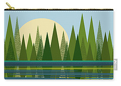 Beaver Pond - Vertical Carry-all Pouch by Val Arie