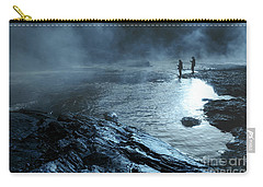 Carry-all Pouch featuring the photograph Beaver's Ben Fog Fishing by Tamyra Ayles