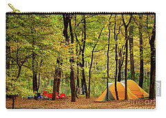 Beaver's Bend Camping Carry-all Pouch by Tamyra Ayles