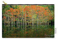 Beaver's Bend Cypress All In A Row Carry-all Pouch by Tamyra Ayles