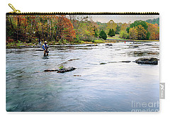 Beaver's Bend Fly Fishing Carry-all Pouch by Tamyra Ayles