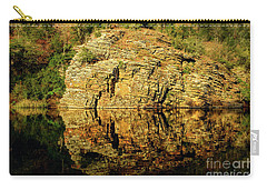 Beaver's Bend Rock Wall Reflection Carry-all Pouch by Tamyra Ayles