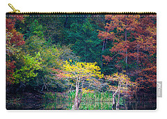 Beavers Bend Trees Carry-all Pouch by Inge Johnsson