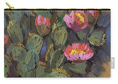 Beavertail Cactus 4 Carry-all Pouch by Diane McClary