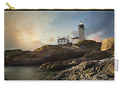 Carry-all Pouch featuring the photograph Beavertail Light by Robin-Lee Vieira
