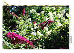 Carry-all Pouch featuring the photograph Beckoning Butterfly Bush by Hanne Lore Koehler