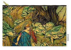 Carry-all Pouch featuring the painting Becuma Of The White Skin 1920 Medieval Irish Mythology by Peter Gumaer Ogden