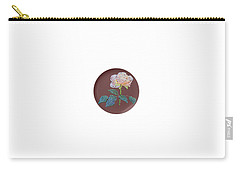 Carry-all Pouch featuring the digital art Bedazzed Rose Plate by R  Allen Swezey
