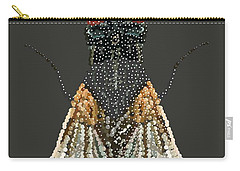 Bedazzled Housefly Transparent Background Carry-all Pouch