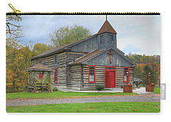 Carry-all Pouch featuring the digital art Bedford Village Church by Sharon Batdorf