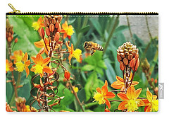 Bee And Flowers Perfect Match Carry-all Pouch