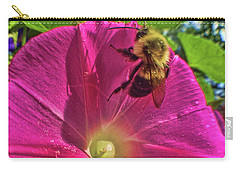 Bee And Morning Glory Carry-all Pouch by Todd Breitling