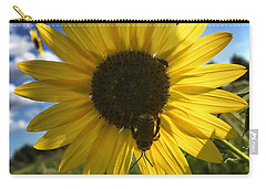 Bee And Sunflower Carry-all Pouch