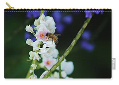 Bee And Wild Flowers Carry-all Pouch by Craig Wood