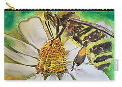 Bee Collecting Nectar And Pollen Carry-all Pouch
