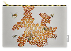 Bee Hive # 1 Carry-all Pouch by Katherine Young-Beck