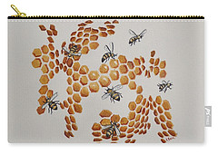 Bee Hive # 2 Carry-all Pouch by Katherine Young-Beck