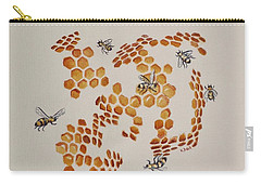Bee Hive # 3 Carry-all Pouch by Katherine Young-Beck
