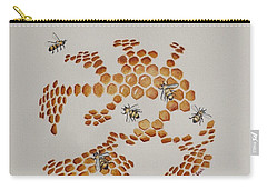 Carry-all Pouch featuring the painting Bee Hive # 4 by Katherine Young-Beck