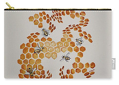 Carry-all Pouch featuring the painting Bee Hive # 5 by Katherine Young-Beck