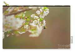 Bee On A Cherry Blossom Carry-all Pouch