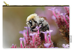 Bee On A Verbena Bonariensis Carry-all Pouch by Nick Biemans