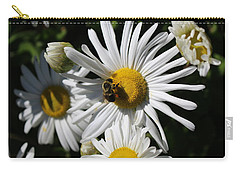 Bee On Flower 1 Carry-all Pouch by Jason Nicholas