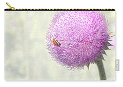 Bee On Giant Thistle Carry-all Pouch